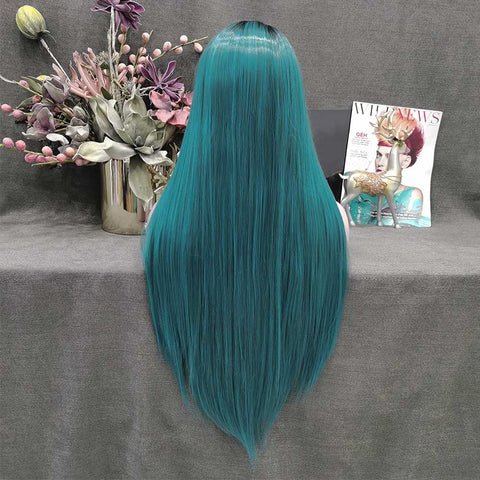 Ombre Long Straight Wig-W133