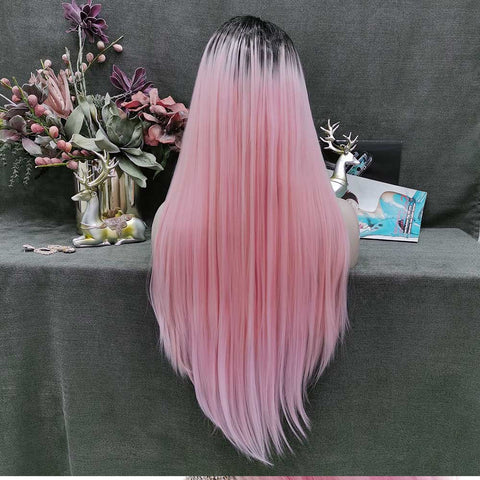 Long Straight Wig-W138-PINK