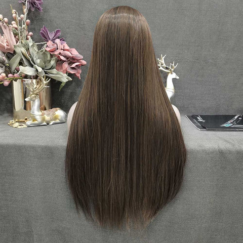 Brown Long Straight Wig W78-1B30