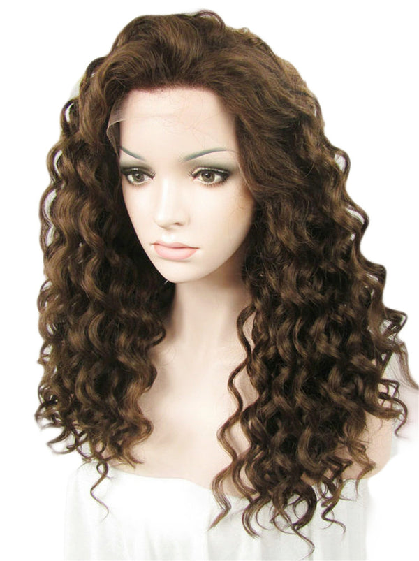 Medium Brown Glueless Synthetic Lace Front Wigs - Imstylewigs