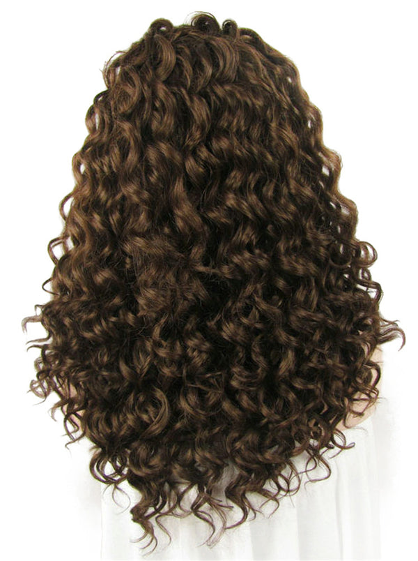 Medium Deep Curly Glueless Synthetic Lace Front Wigs - Imstylewigs