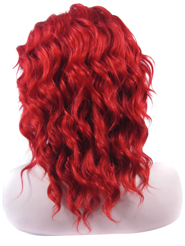 Red Short Deep Curly Synthetic Lace Front Wigs - Imstylewigs