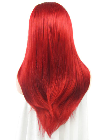 Straight Red Lace Front Wigs DQ