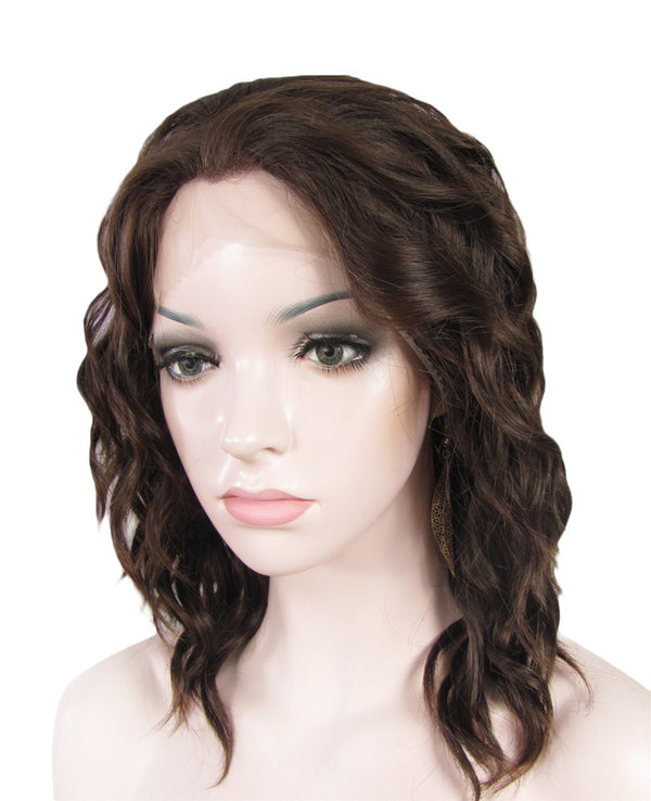 Chestnut Brown Synthetic Glueless Lace Front Wigs - Imstylewigs