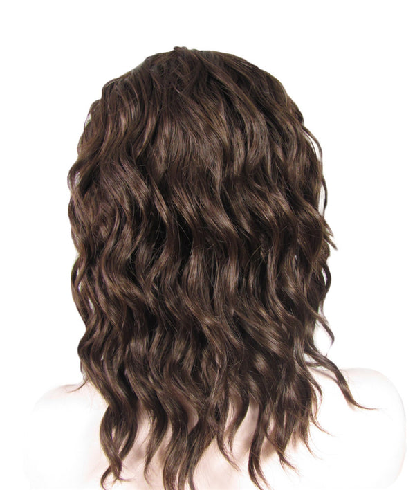 Chestnut Brown Loose Curly Glueless Lace Front Wigs - Imstylewigs
