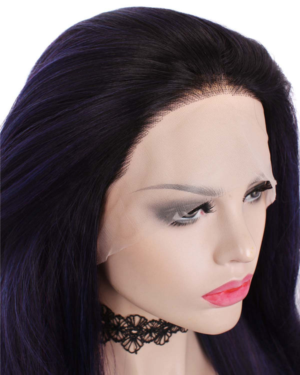 Mystery Purple Synthetic Glueless Lace Front Wigs - Imstylewigs