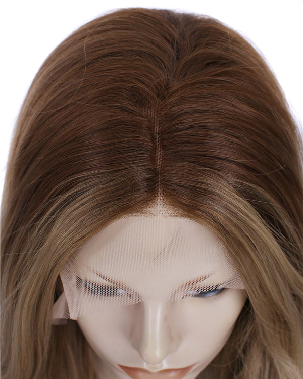 Ash Brown Synthetic Glueless Lace Front Wigs - Imstylewigs