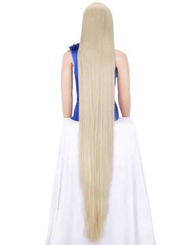 Super Long Blonde Straight Glueless Synthetic Lace Front Wigs - Imstylewigs