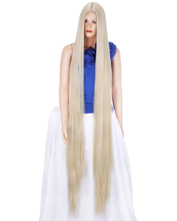 Super Long Blonde Middle Parting Synthetic Lace Front Wigs - Imstylewigs