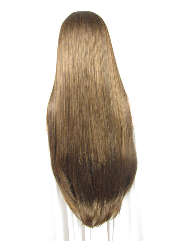 Honey Blonde Long Straight Synthetic Lace Front Wigs - Imstylewigs