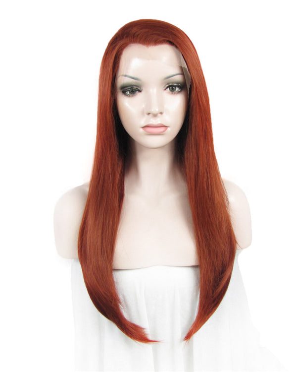 Long Straight Glueless Synthetic Lace Front Wigs - Imstylewigs