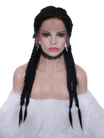 New Braiding Hairstyle Synthetic Lace Front Wigs BH1B