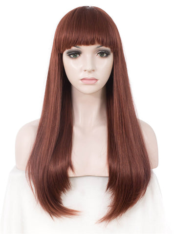 Long Straight Synthetic Hair With Bangs Normal Wigs AW011