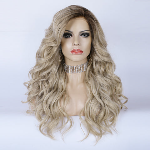 Gorgeous Caramel Blonde Synthetic Lace Wigs IMC7