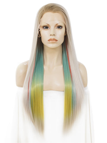 Fantasy Rainbow Color Lace Front Wigs IM34C149
