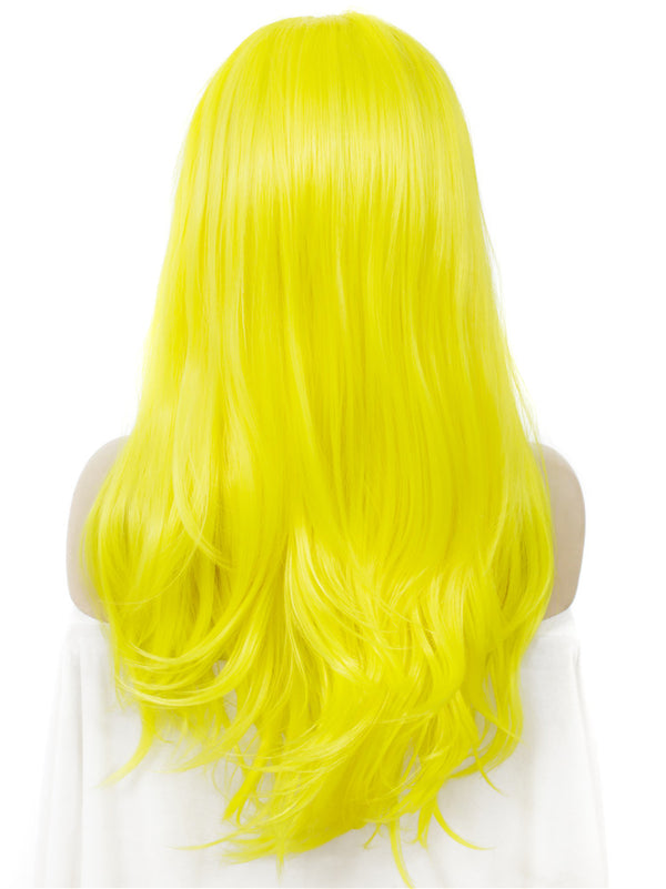 Long Straight Sunshine Yellow Lace Front Wigs - Imstylewigs