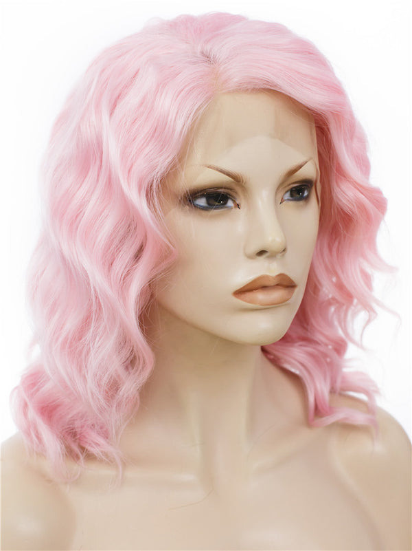 Pure Pink Synthetic Lace Front Wigs - Imstylewigs