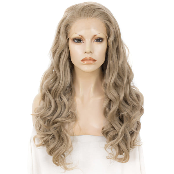 Honey Blonde Synthetic Lace Front Wig AM716613