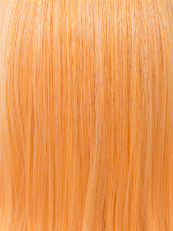 Light Orange Natural Straight Glueless Synthetic Wigs - Imstylewigs