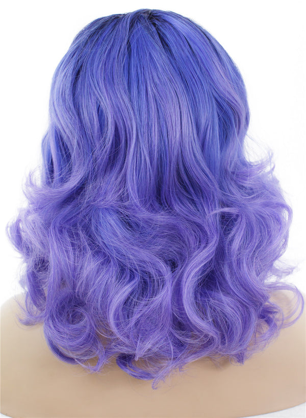 Purple Dark Roots Drag Queens Synthetic Lace Front Wigs - Imstylewigs