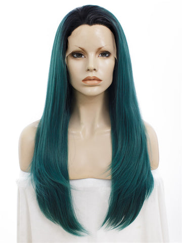 JUNIPER GREEN STRAIGHT LACE WIGS IM2999
