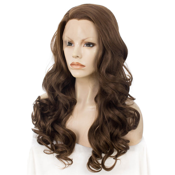 Golden Brown Loose Wavy Glueless Lace Front Wigs - Imstylewigs