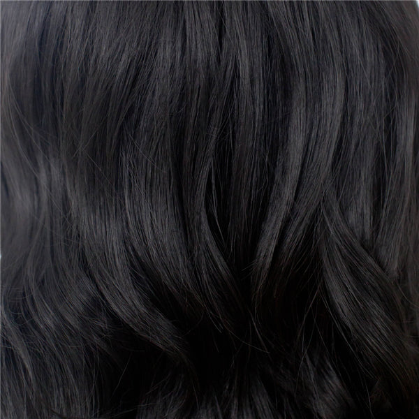 Black Natural Wavy Synthetic Lace Front Wigs - Imstylewigs