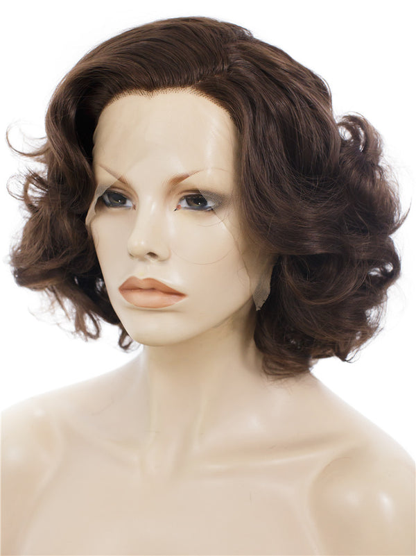 Bob Wavy Lace Front Synthetic Wig AM24