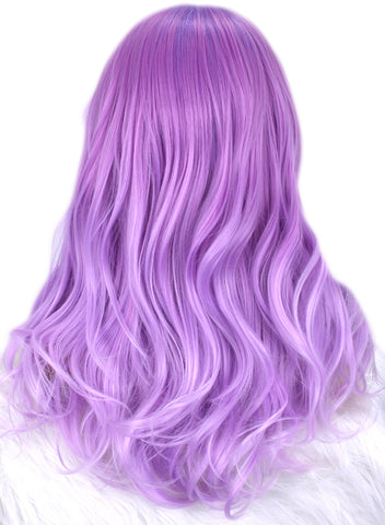 Imstyle Dreamy Purple Natural Wavy Synthetic Lace Front Wigs 20 inch