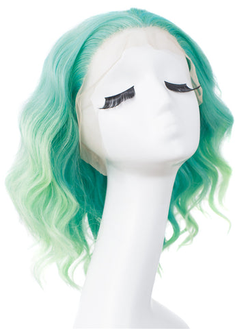 OMBRE GREEN CURLY SYNTHETIC DRAG WIGS IM17129