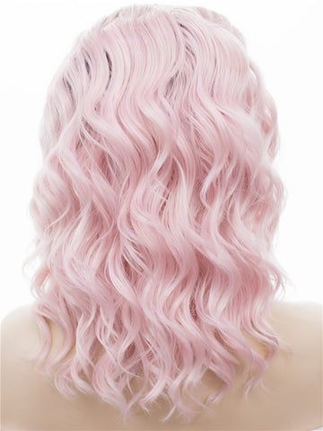 Sakura Pink Short Loose Curly Lace Front Wigs - Imstylewigs