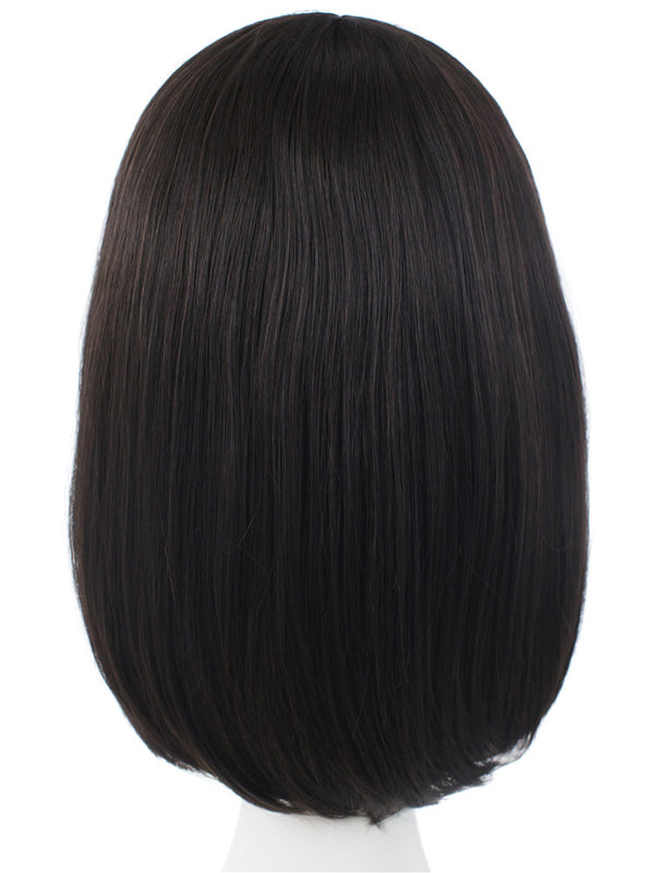 Natural Black Short Straight Lace Front Wigs - Imstylewigs
