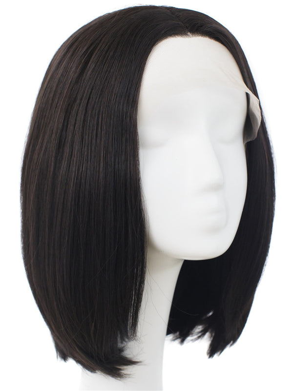 Natural Black Synthetic Glueless Lace Front Wigs - Imstylewigs