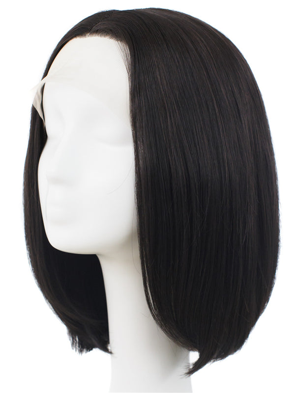 Short Straight Synthetic Glueless Lace Front Wigs - Imstylewigs