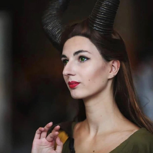 Maleficent Cosplay Long Straight Lace Front Wigs - Imstylewigs