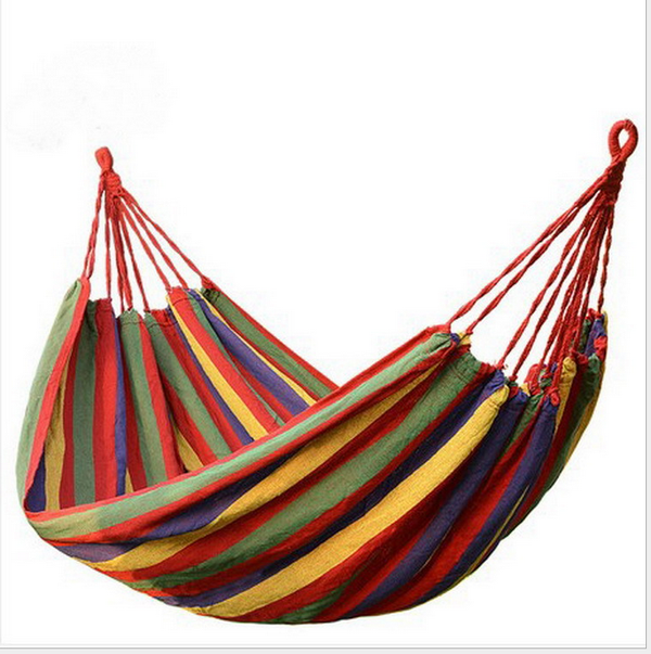 Soberco Colorful Comfortable Cotton Outdoor Hammock 2-4 Person