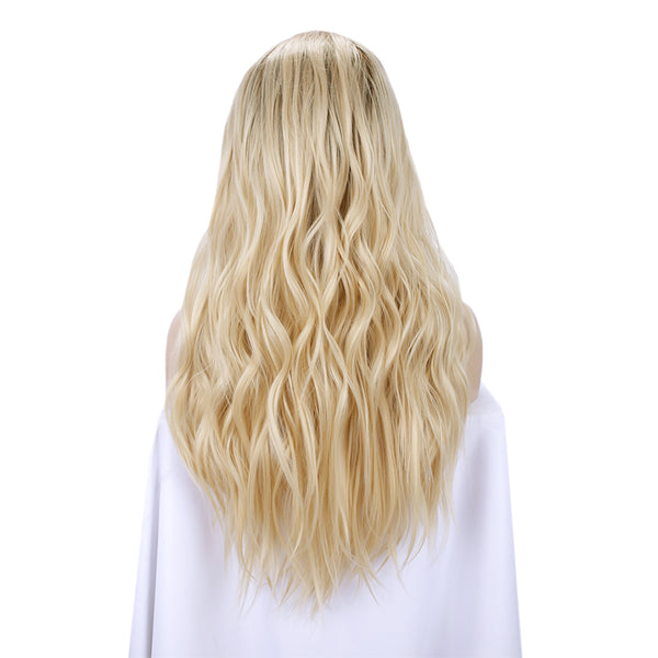 Ombre Blonde Body Wavy Lace Front Wigs Autumn-Winter
