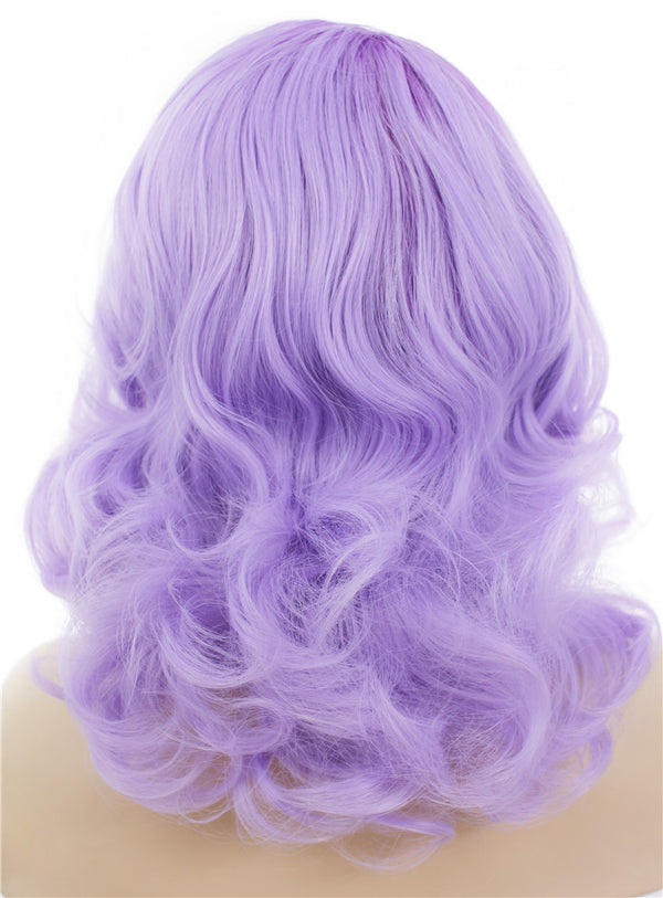 Lilac Purple Wave Glueless Lace Front Wigs - Imstylewigs