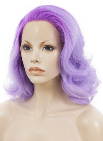 Lilac Purple Glueless Synthetic Lace Front Wigs - Imstylewigs