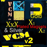 Gold & Silver Plated Magnets for VCM v2, XxX, X1, & X2 for superior conductivity!
