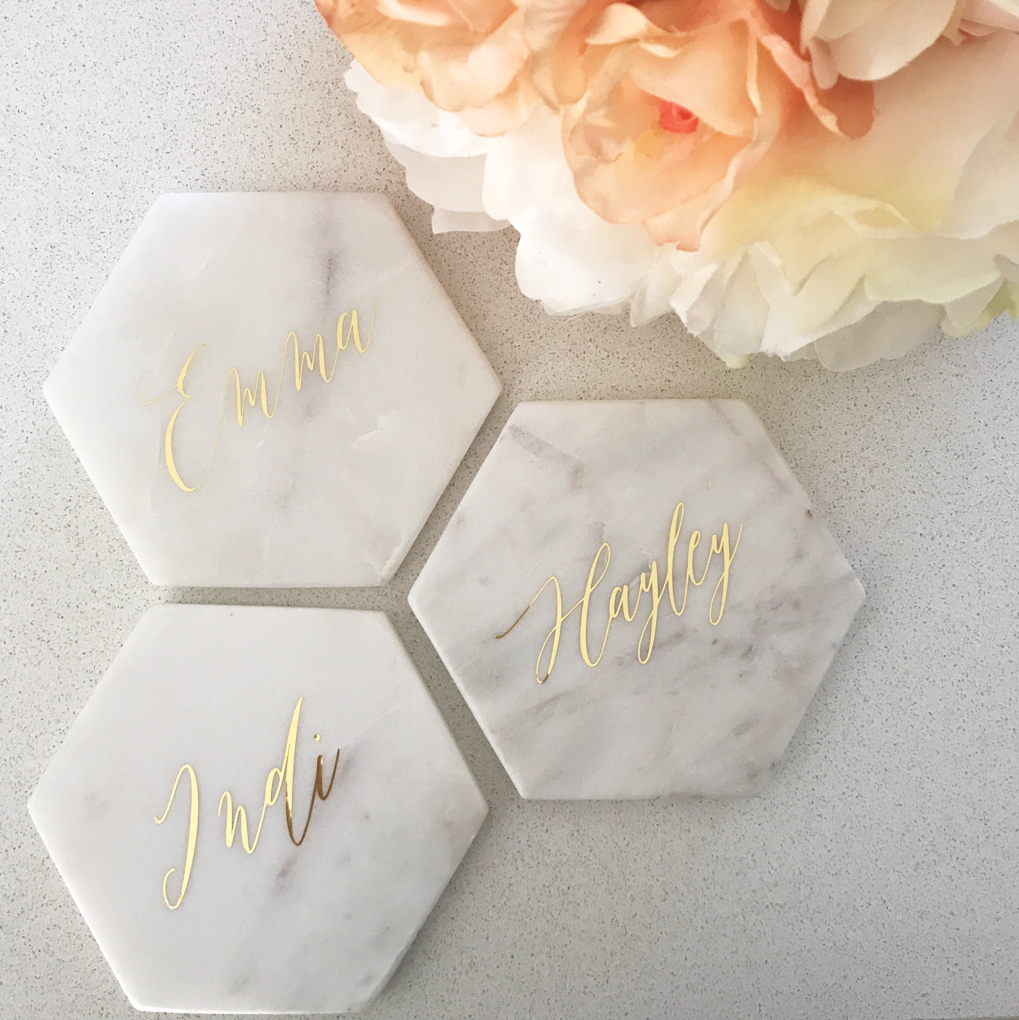 Personalised Marble Coaster – Styled Events Boutique