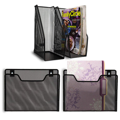 Magazine and Hanging Wall Organizer Set of 4 Pieces