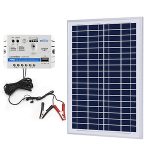 ACOPOWER 25 Watt Off-grid Solar Kits,with 5A - OutdoorsmanLab
