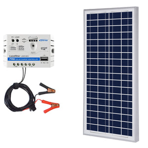 ACOPOWER 35W 12V Solar Charger Kit, 5A Charge - OutdoorsmanLab