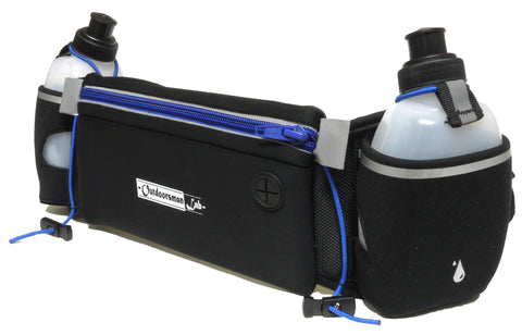 Hydration Belt for Running with Water Bottles (2x BPA-free 10 Oz)