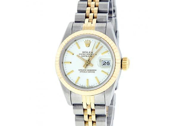 Rolex  178273 Lady 18k Gold and Steel Datejust 31mm White Dial