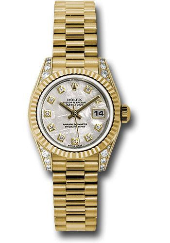 179238 Rolex Oyster Perpetual Lady-Datejust Watch 26mm 18k Solid Gold 24 Diamonds