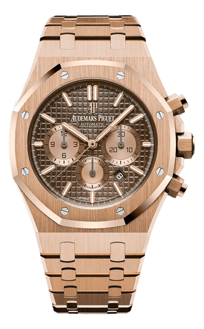 Audemars Piguet Watches 41mm / Brown / Rose Gold AP Audemars Piguet Royal Oak Chronograph 41 Rose Gold Watch 26320OR.OO.1220OR.01