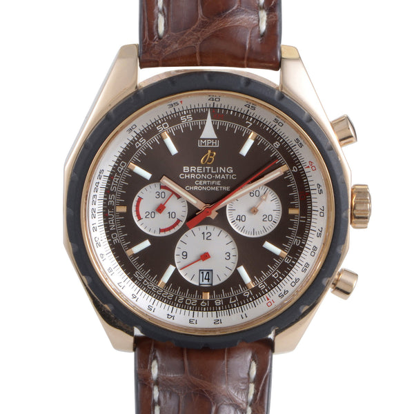 Breitling Watch 49mm / Brown Breitling Chrono-Matic Limited Edition 49mm 18k Rose Gold Ltd 500 pcs