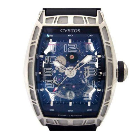 Cvstos Watches 45mm / Skeleton Cvstos Challenge Jet Liner Automatic Stainless Steel & Rubber Skeleton Dial